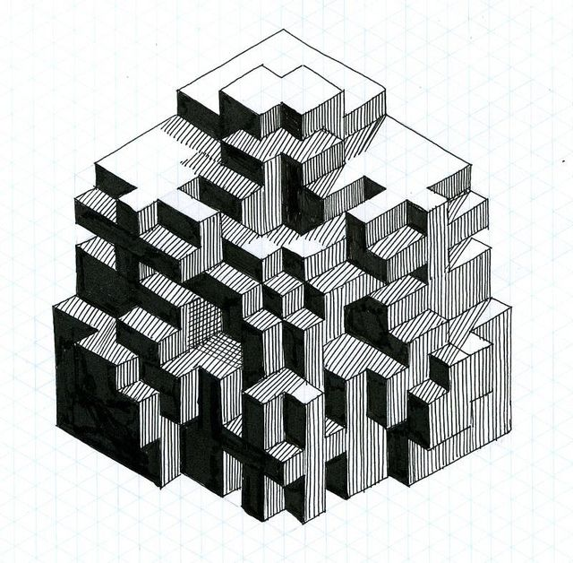 fun with isometric paper 02 Isometric shapes, Isometric paper - isometric dot paper