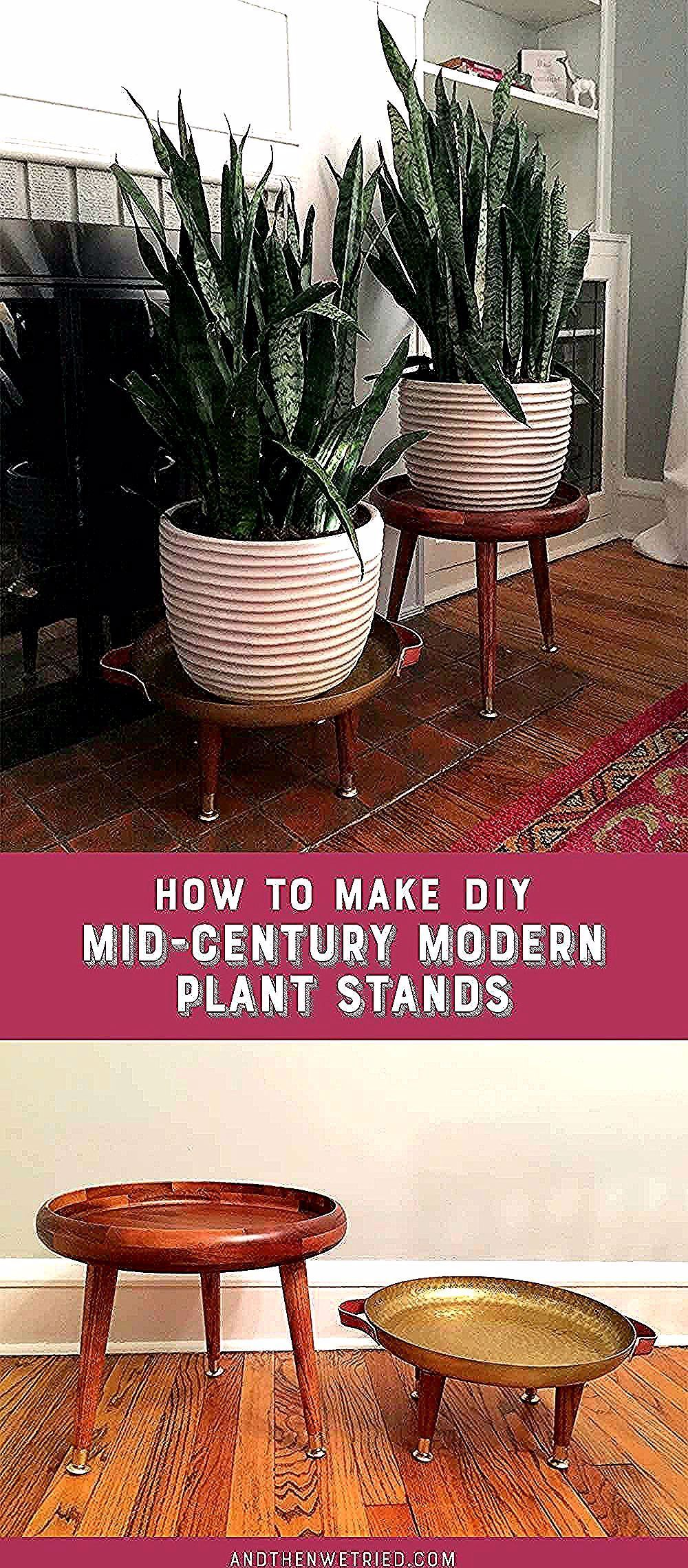 Mid Century Modern Plant Stands Ideas & Inspiration #DIY # ... on Hanging Plant Stand Ideas  id=37609