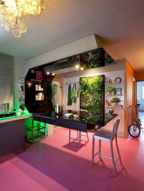 Jardín vertical de interior en Barcelona Jardines Verticales