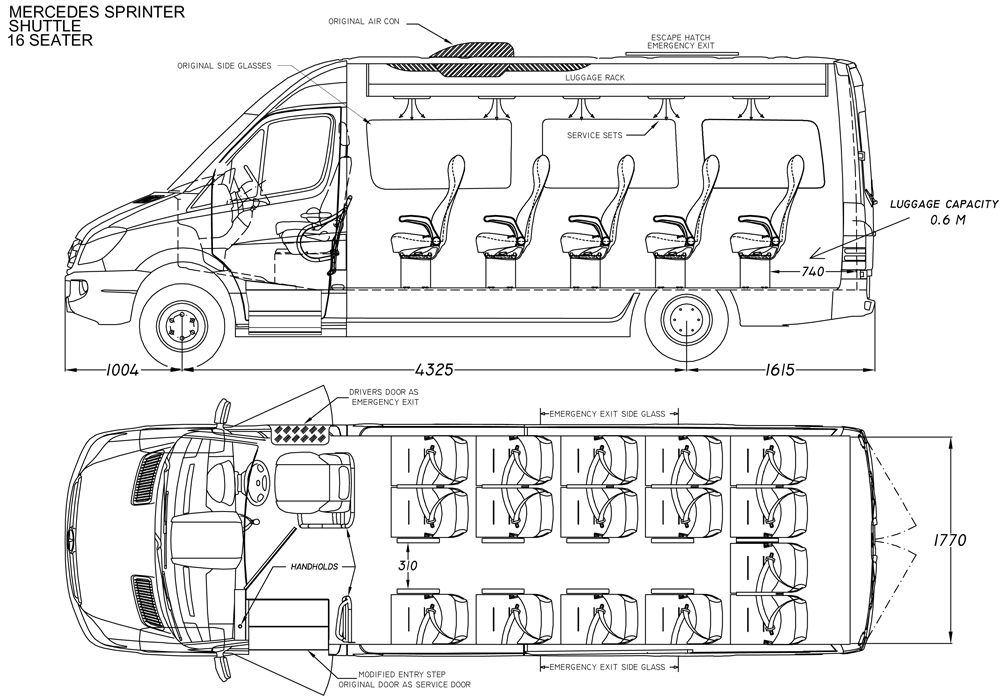 mercedes sprinter van dimensions