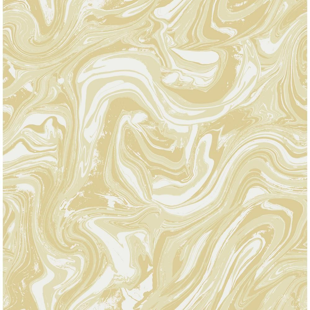 Seabrook Designs Mindy Metallic Pearl and Light Gray Marbled Wallpaper