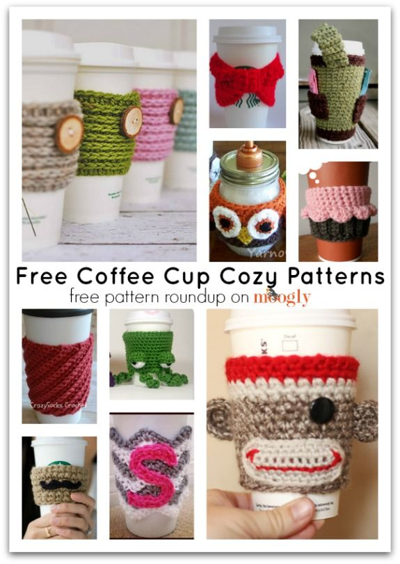 Crochet for your coffee cup! 10 free #crochet coffee sleeve patterns ...