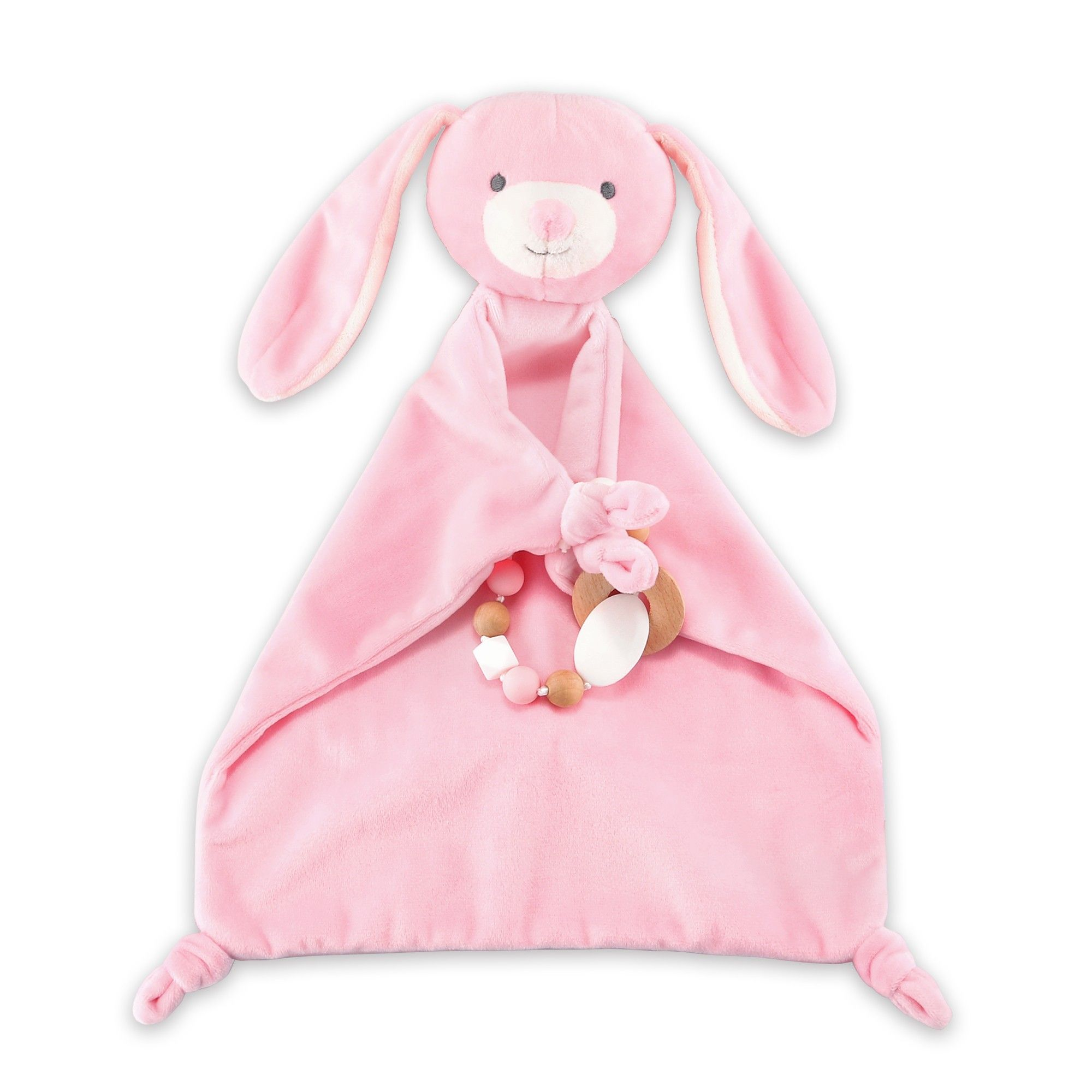 Soft Plush Bunny Rabbit Musical Pull Chime Toy ~ Pink