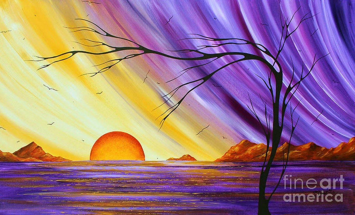 Pintura Y Fotografia Artistica Dibujos Faciles Para Pintar Con Acrilico Minimalismo Artistico Pintar Con Acrilico Pinturas De Oceano Pinturas Del Atardecer