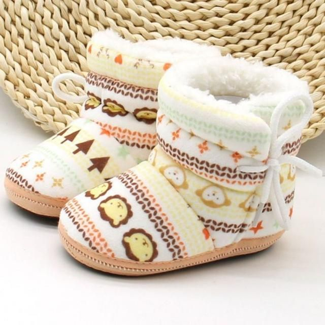 Baby Knit Warm Boots   Crib shoes girl