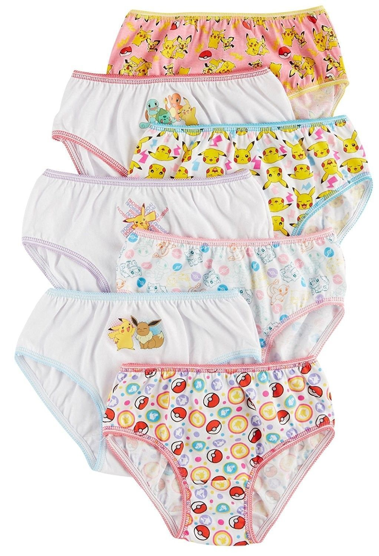 19be4c2d23e3 50% OFF Pokemon Girls Panties Underwear 7 pack Sizes 4, 6, 8 – ebay ...