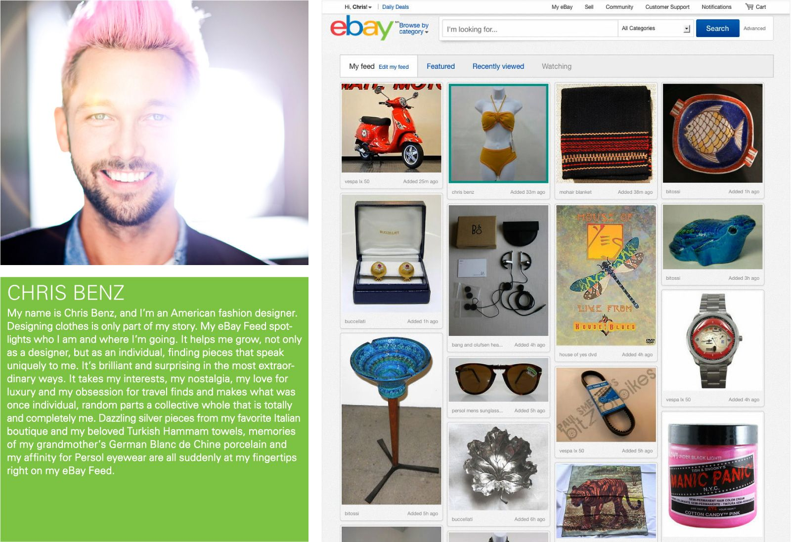 eBay: A new look for the global online marketplace.