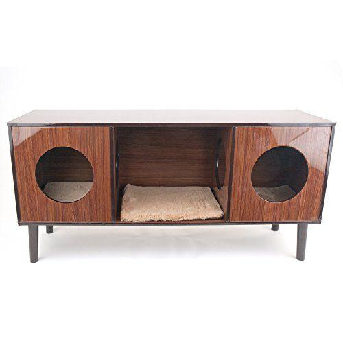 tv hideaway furniture. Penn Plax Cat Bed Hideaway With TV Stand, Modern Design H.. Tv Furniture