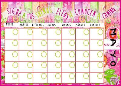 Lápices de colores: Planing y Calendarios