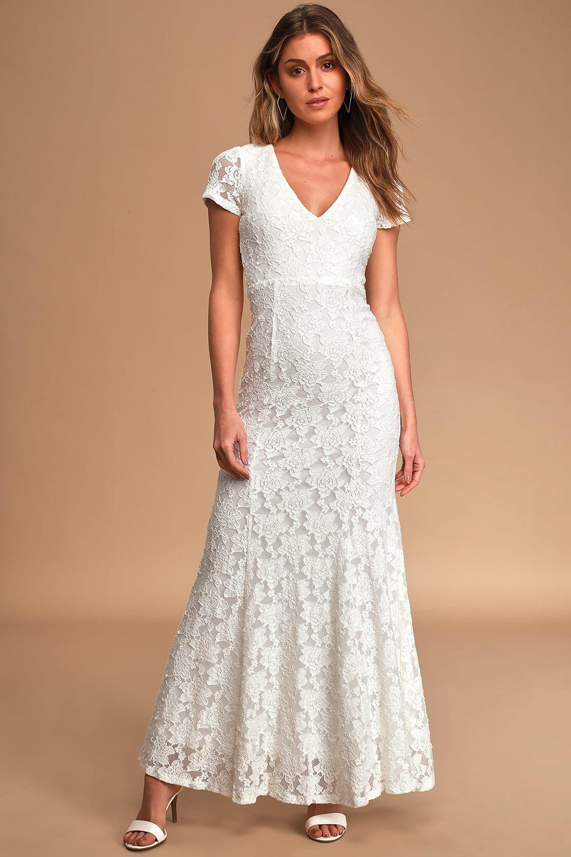 24++ White lace maxi wedding dress info
