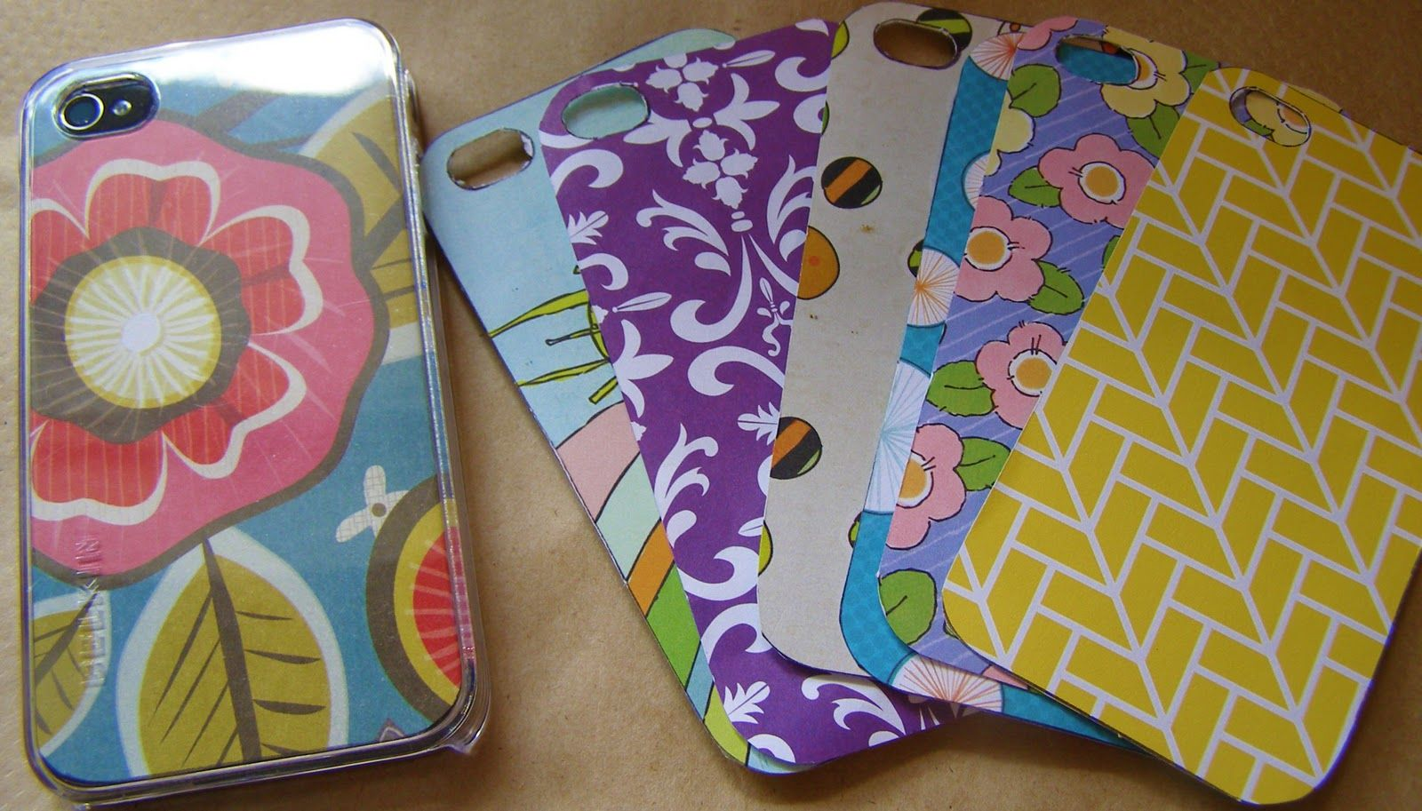Scrapbook paper case - Diy Phone Case Design Buy A Clear Iphone Case And Create A New Back For It Like Scrapbook Paper Or Photocopied Photos Of My Family Or A Favorite Quote