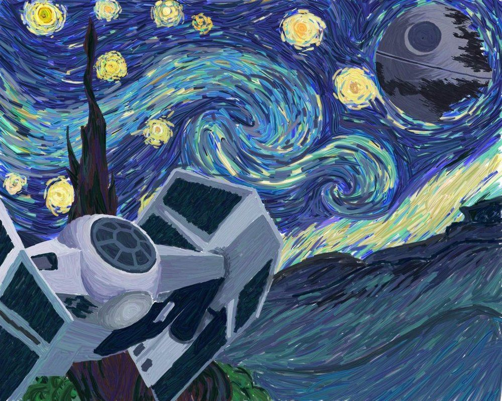 Vincent Van Gogh s Starry Night versi³n Star Wars
