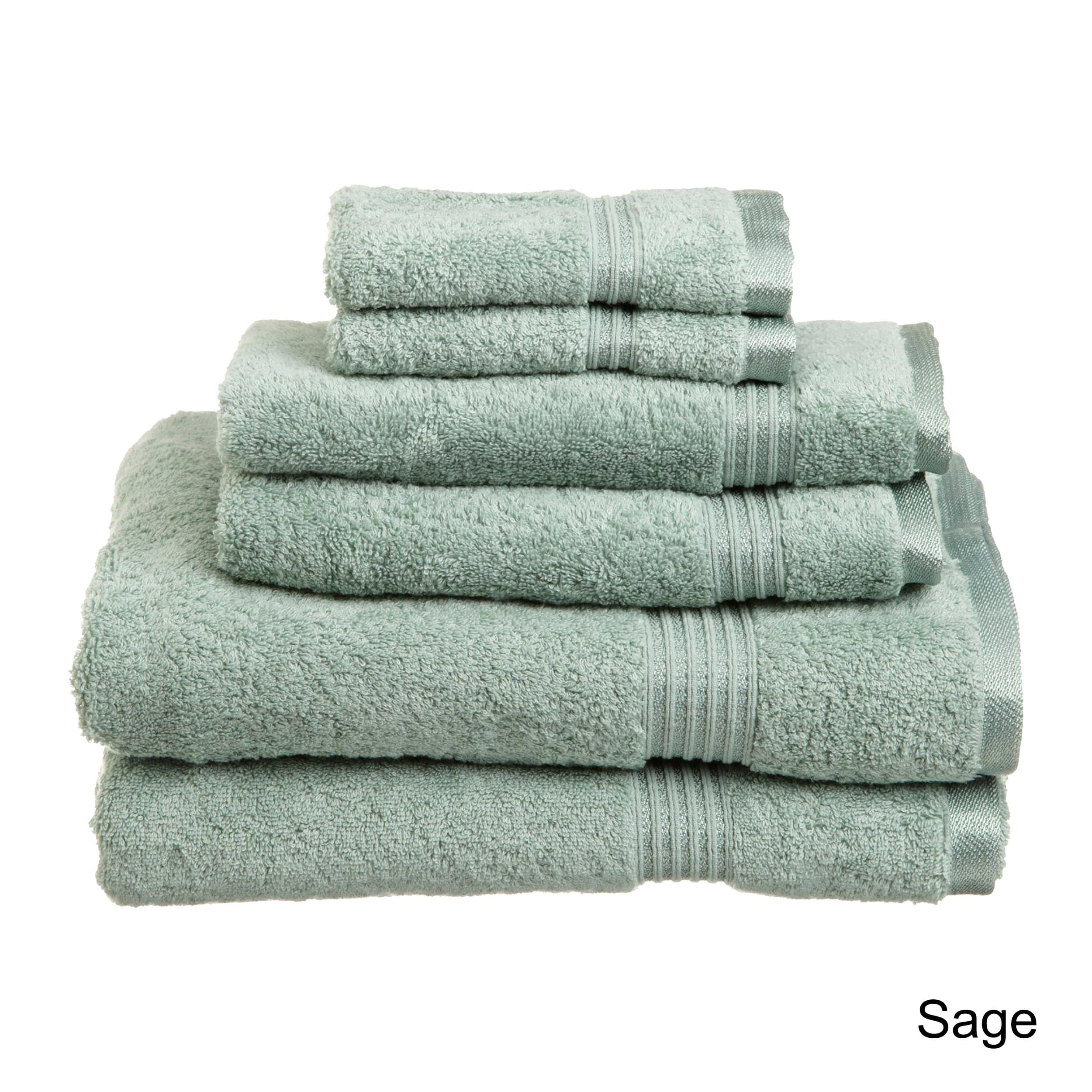 Superior Plush Absorbent Egyptian Cotton 600 Gsm 6 Piece Towel