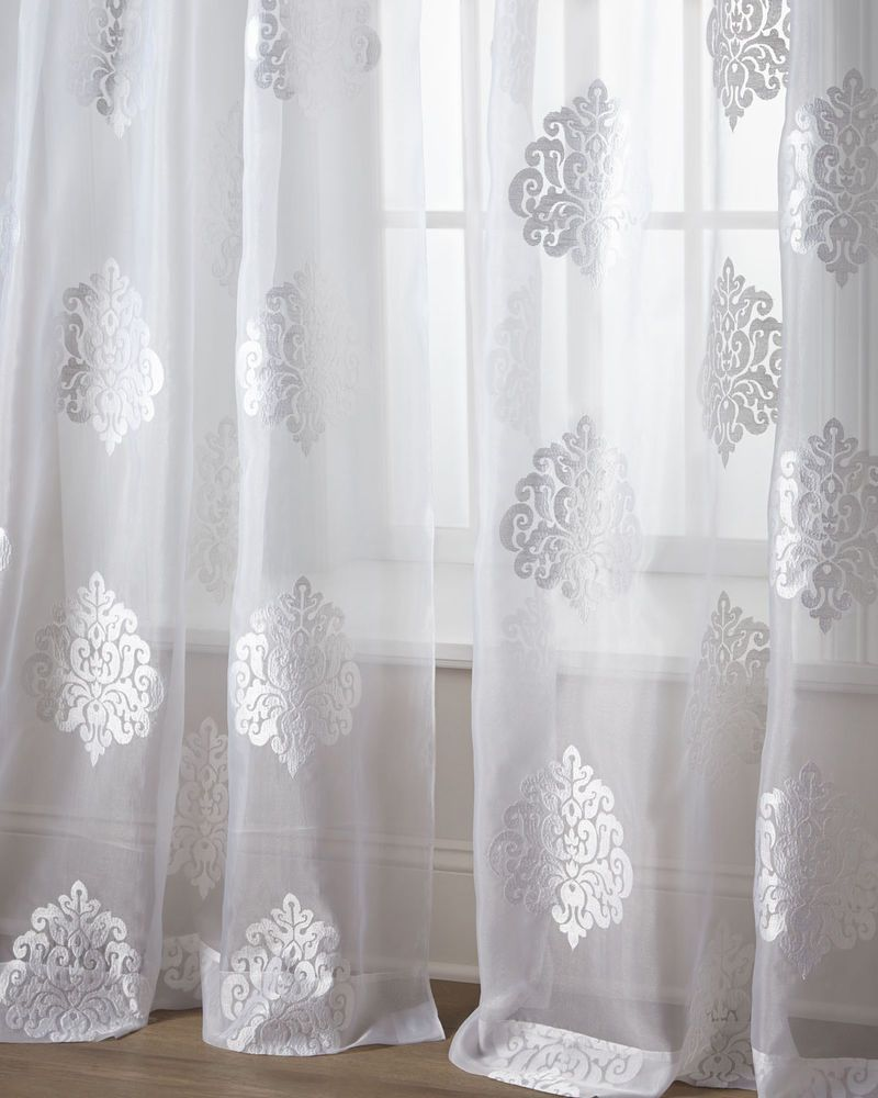 "8 Best Panel Curtains Images On Pinterest: ""Dylan"" Embroidered-Medallion Sheers ( Pair)"