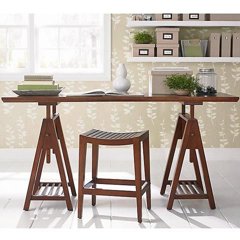 Furniture Designs Beautiful Sawhorse Desk Plans With Fl Wallpaper And Wooden Wall Shelves Also White Ceramic Tiles How To Create