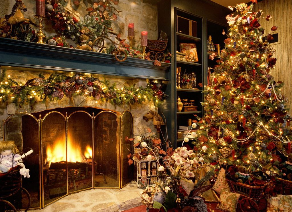 Hd Christmas Wallpapers Download Latest Christmas Wallpaper Free Christmas Tree And Fireplace Christmas Fireplace Beautiful Christmas Trees