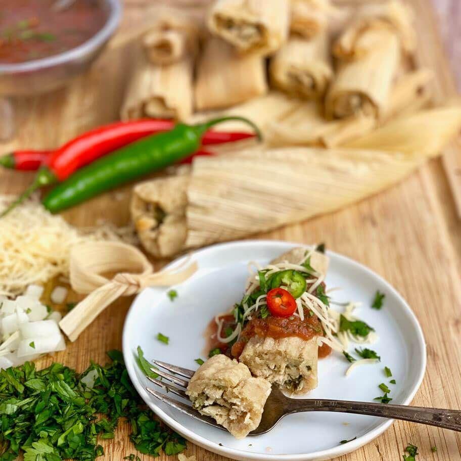 Low carb instant pot tamales with pork panko masa pork