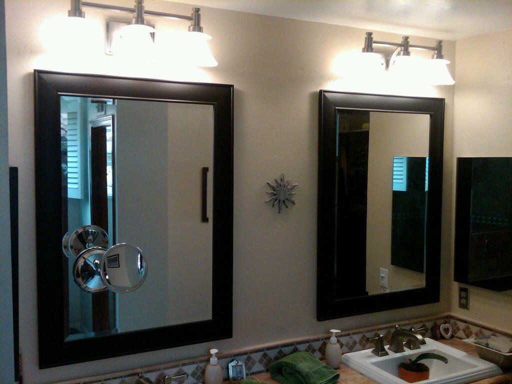 Bathroom Vanity Lights Mounted On Mirror vanity lights mounted over mirror | master bathrooms | pinterest
