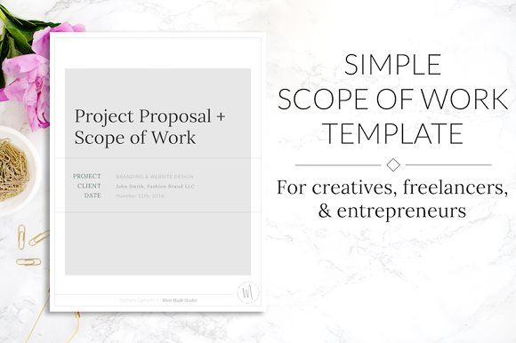 Scope Of Work  Project Proposal By Mint Made On Creativemarket