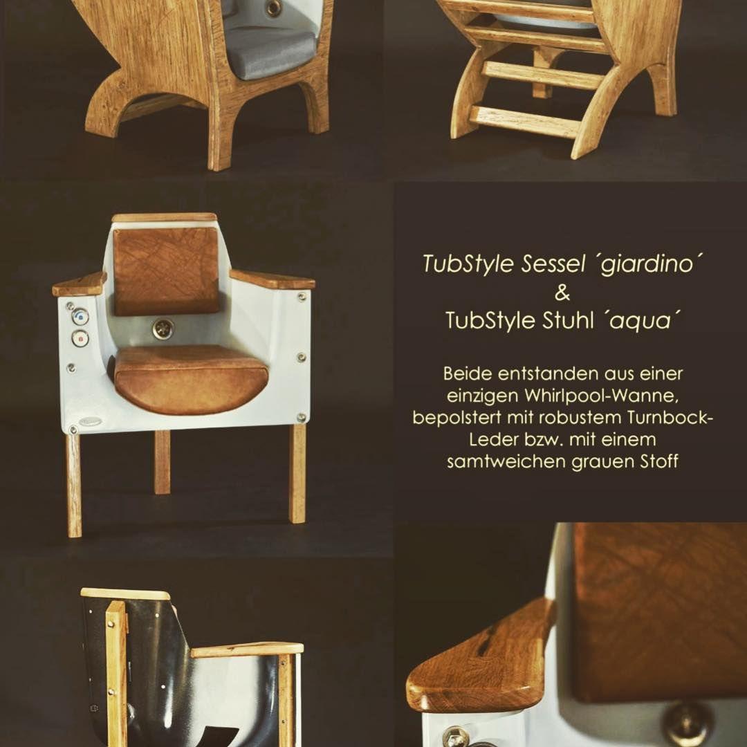tubstyle stuhl und sessel aus einer einzigen badewanne