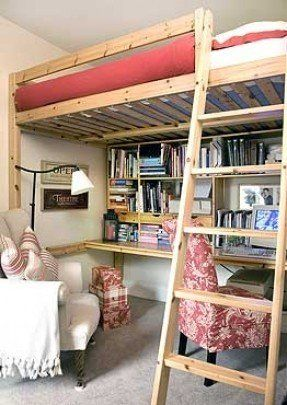 Loft with Desk Underneath   Reader home – 'Our house