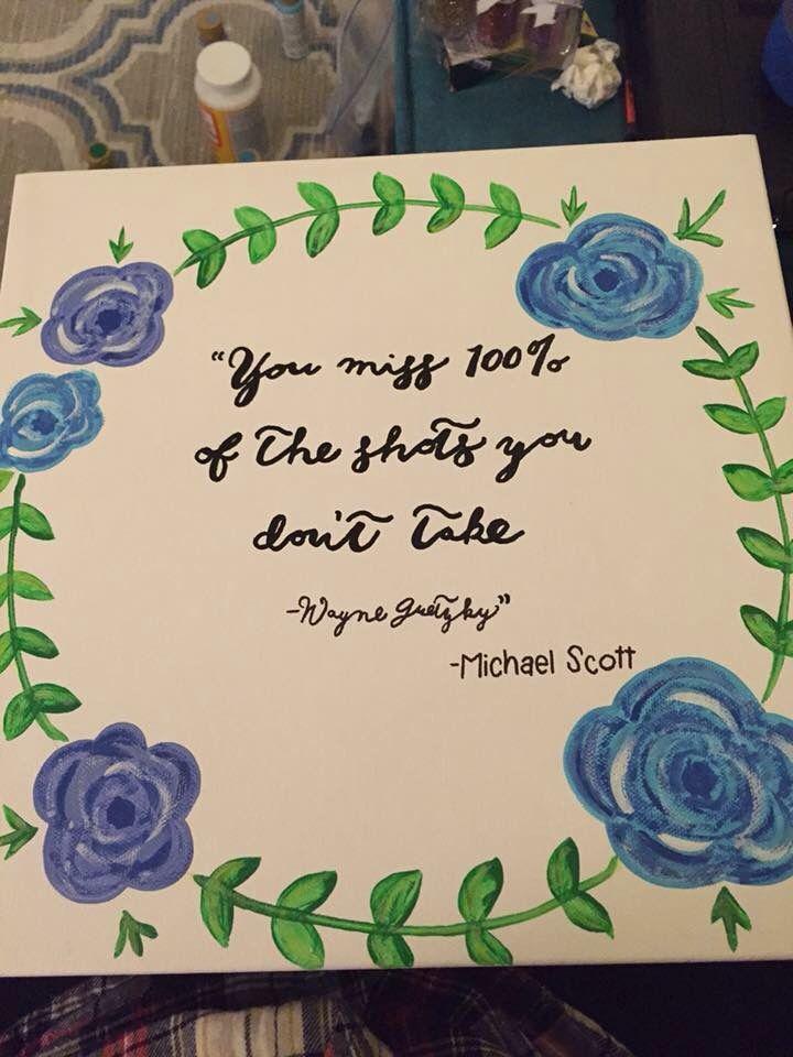 Michael Scott Wayne Gretzky Floral Laurel Wreath The Office Quote Impressive Michael Scott Wayne Gretzky Quote