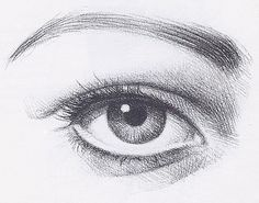 drawing eyes, pencil drawing of an eye, linear drawing