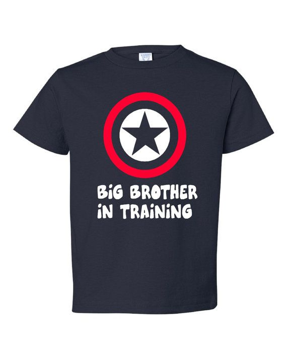 Super Hero Big Brother In Training Shirt  Pregnancy by PinkOwlTees, $15.95