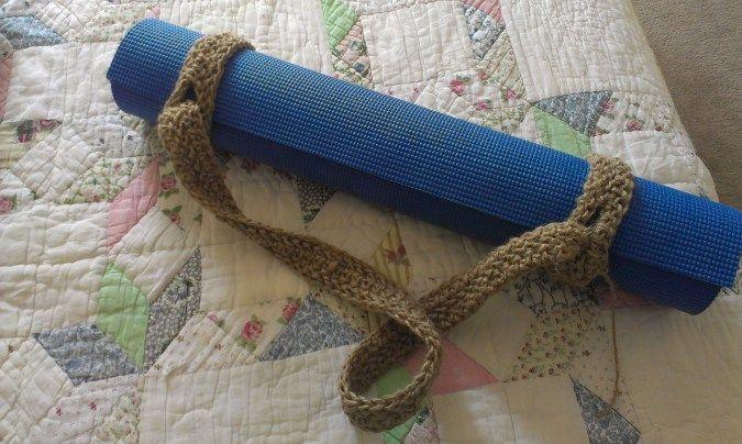 Crochet Yoga Mat Strap | Pinterest | Yoga, Häkeln und Stricken