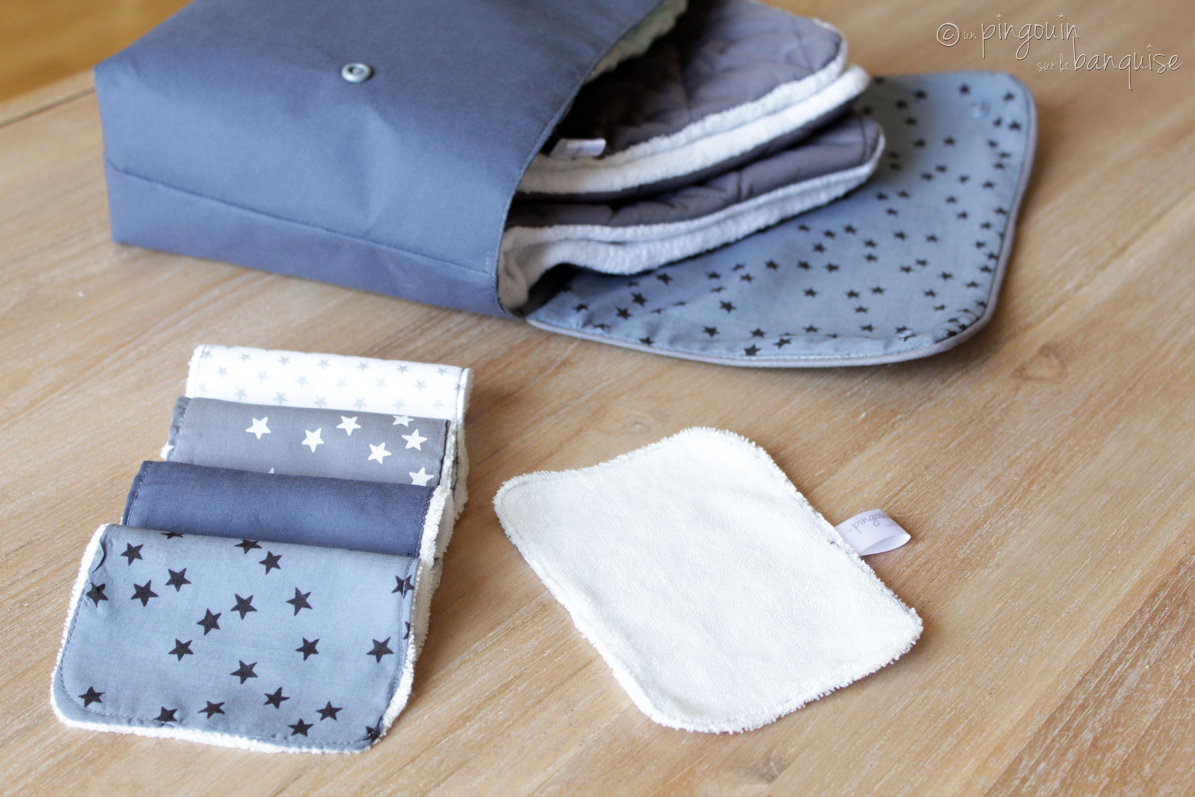 pochette mini sac langer un pingouin sur la banquise. Black Bedroom Furniture Sets. Home Design Ideas