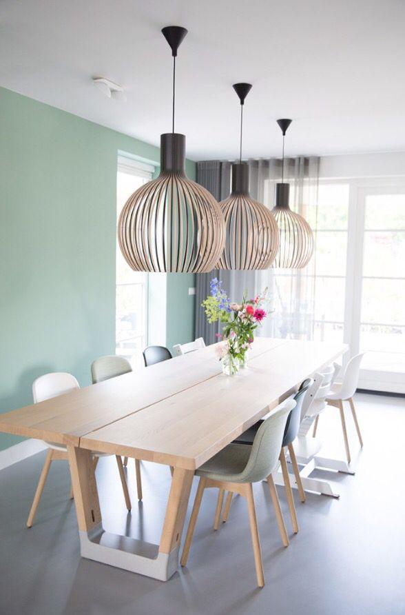 Combinación colores: Madera, blanco, gris y turquesa | Salón ...