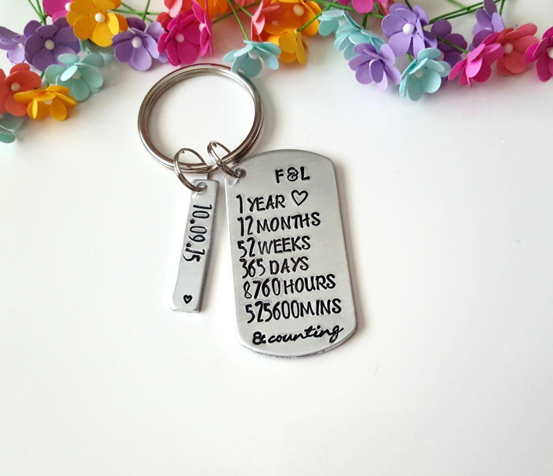 Boyfriend Girlfriend Keychains, 1 year anniversary gift