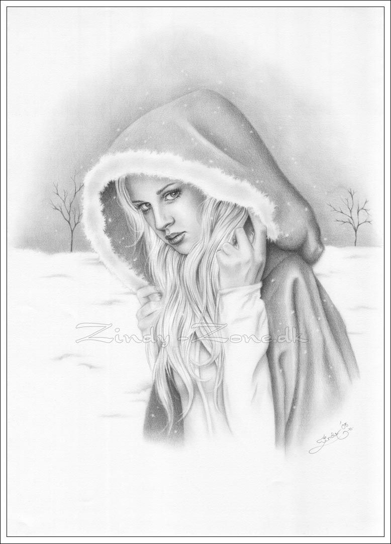 pencil drawings | Zindy-Zone.dk - Pencil Drawings - First Snow