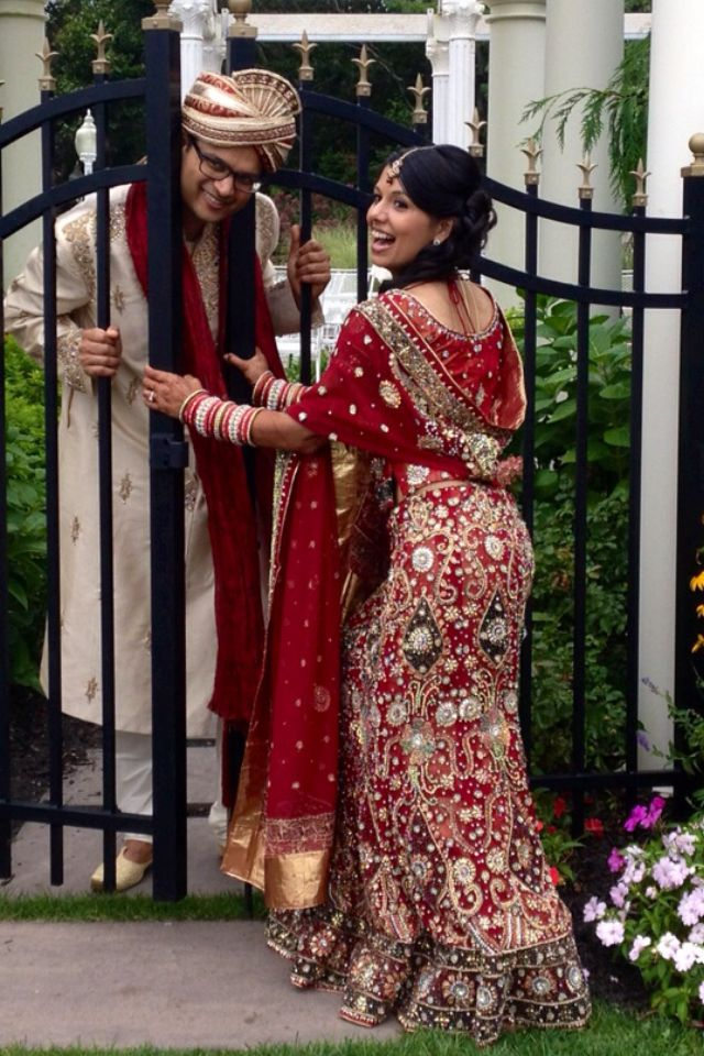 One Of My Favorite Pics From Our Wedding Indianwedding Hindu Lengha Guyanese Indian Outfits Dresses Outfits