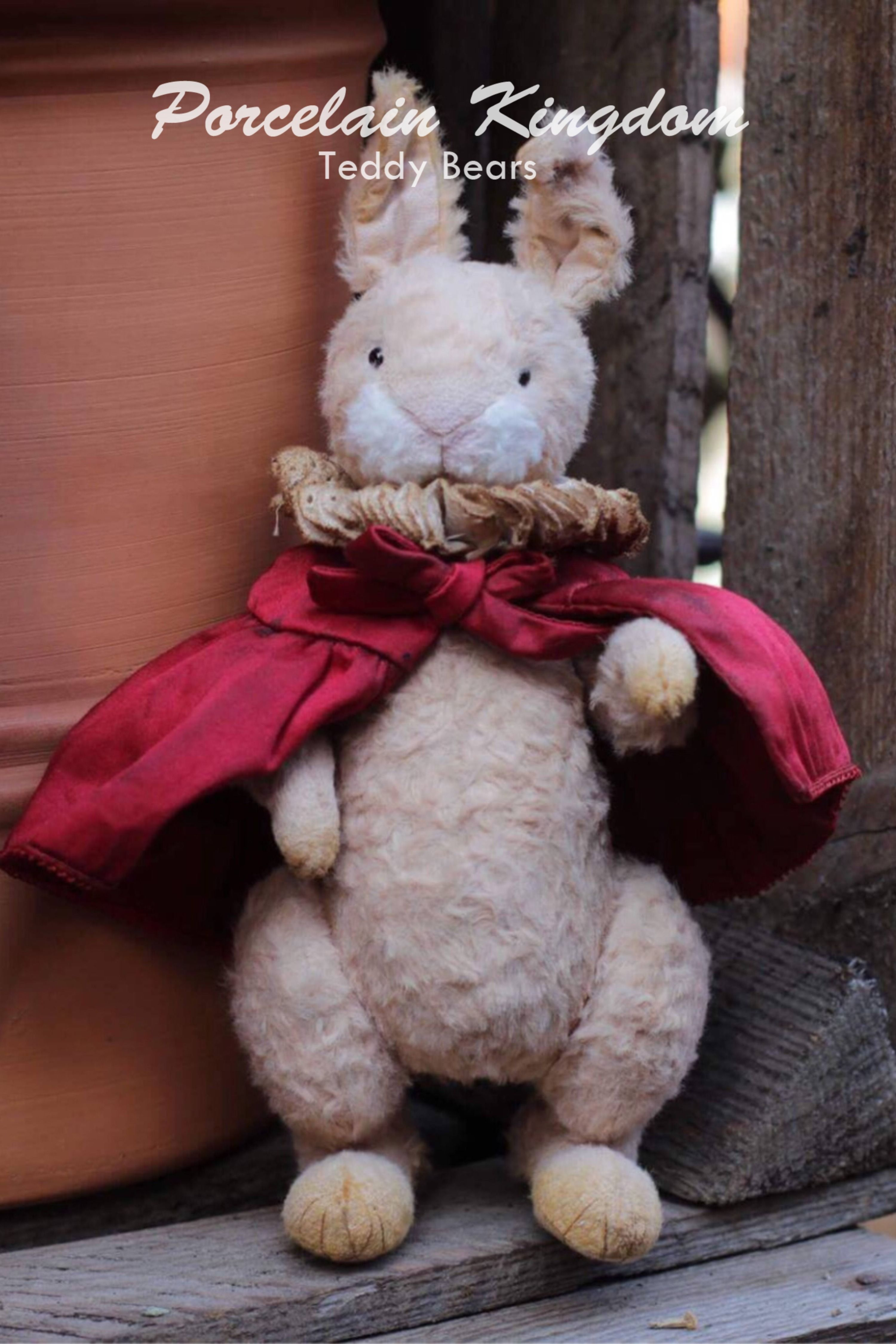 Teddy rabbit for bunny lovers. Check on Etsy.  #teddybunny #rabbitlover