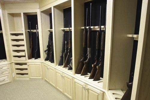 Building a gun room room ideas gun racks gun rack plans for Walk in gun safe plans