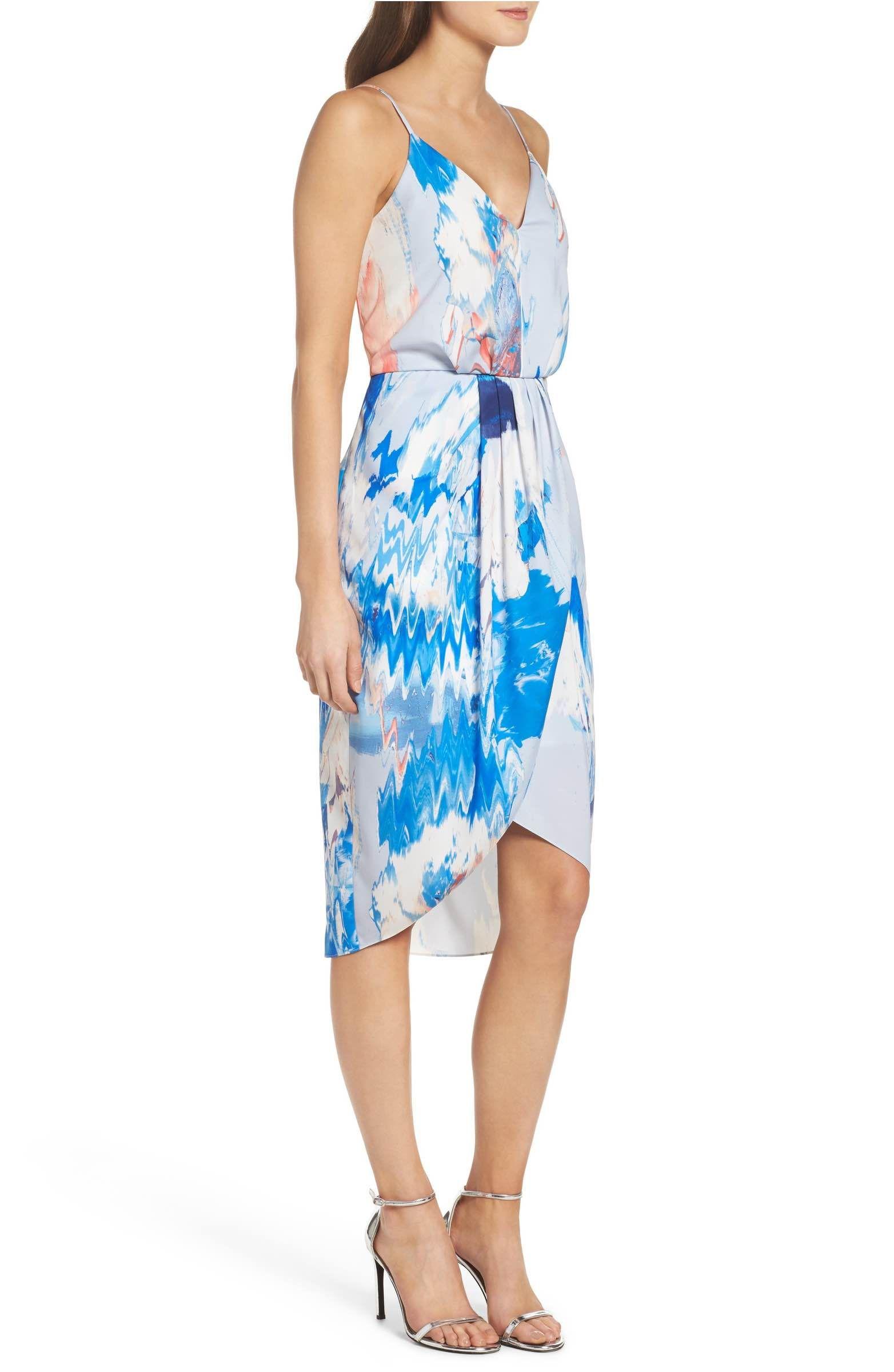 Chelsea28 Print Faux Wrap Dress Nordstrom Dresses Wrap Dress Faux Wrap Dress [ 2400 x 1564 Pixel ]