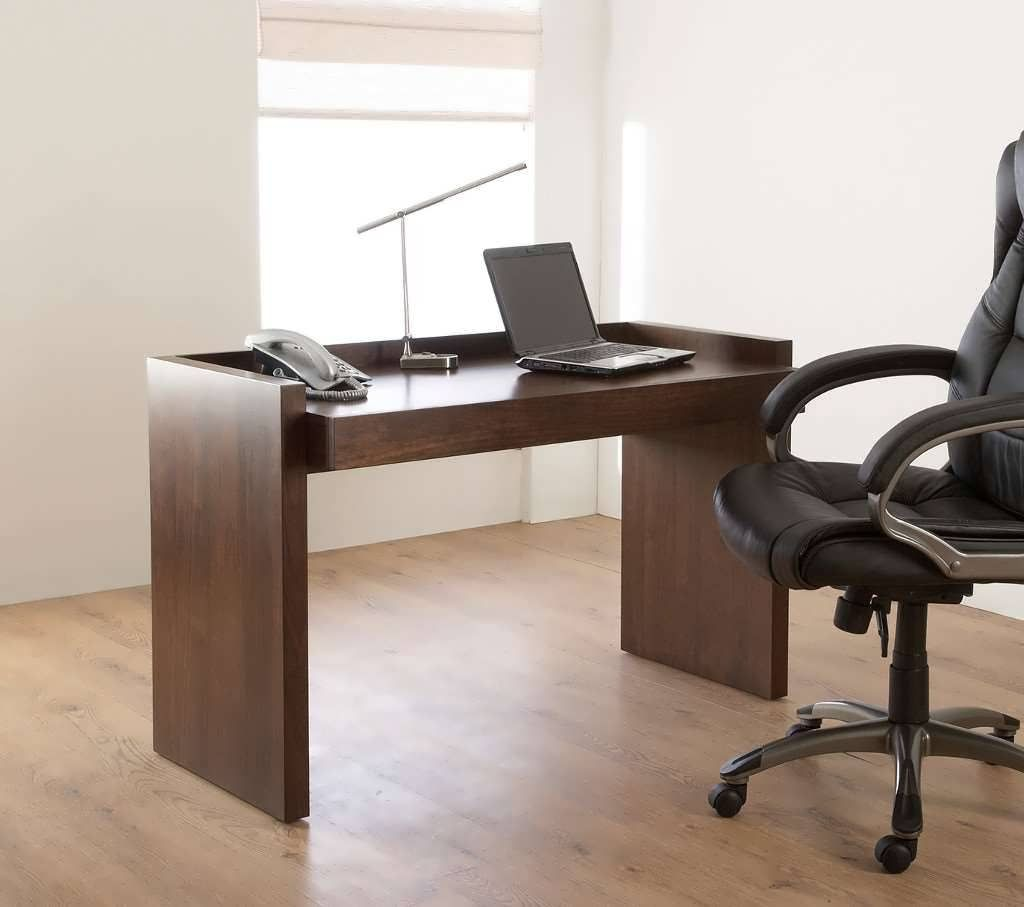 Image of: Office Desk Walnut Throughout Kuadro Office Desk Walnut In For Your Space