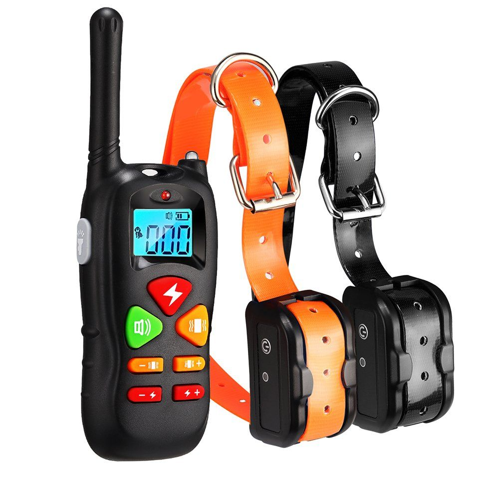 Wiscky Dog Training Collar 2 Dogs Training Collars Remote 1000ft