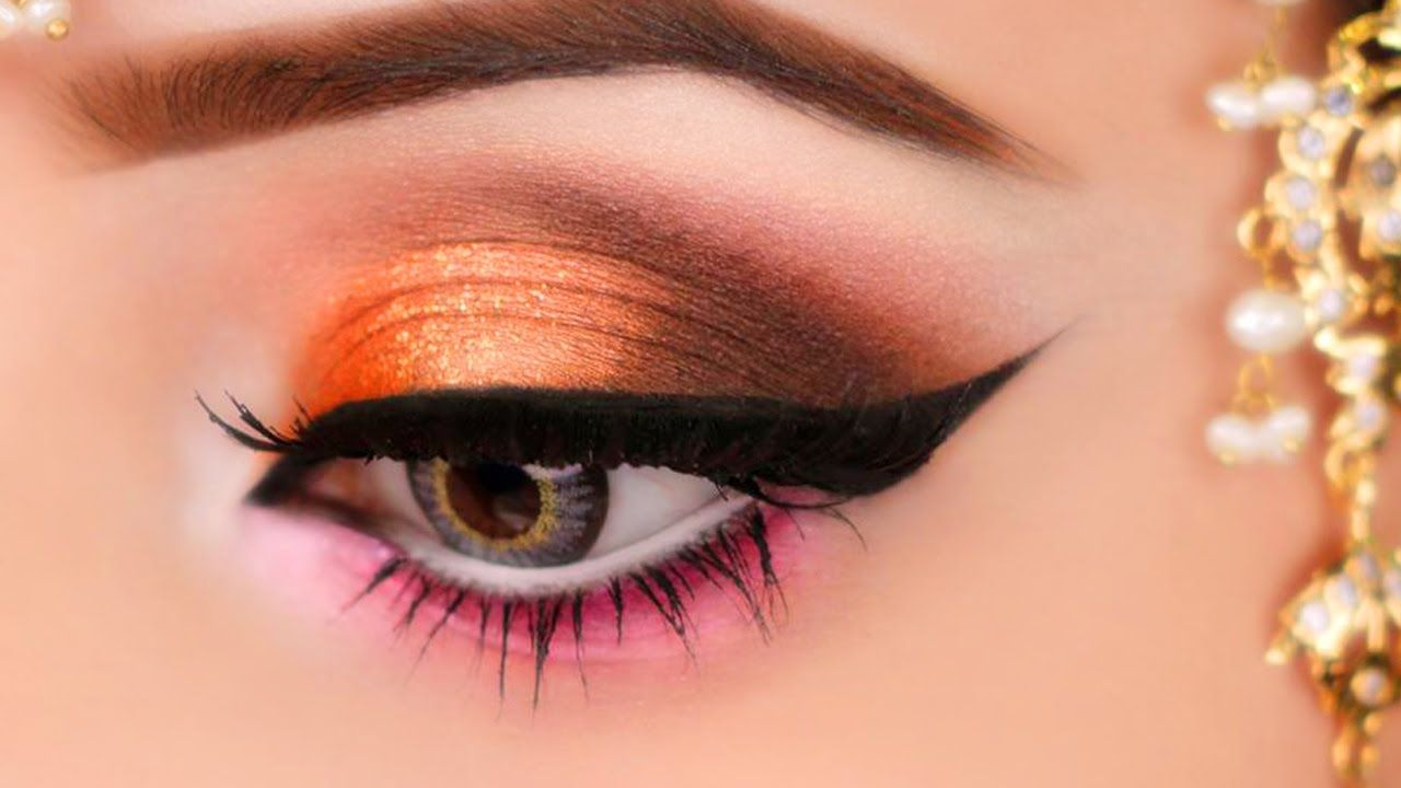 Kashees Orange Smokey Eye Makeup Smokey Eye Makeup Youtube