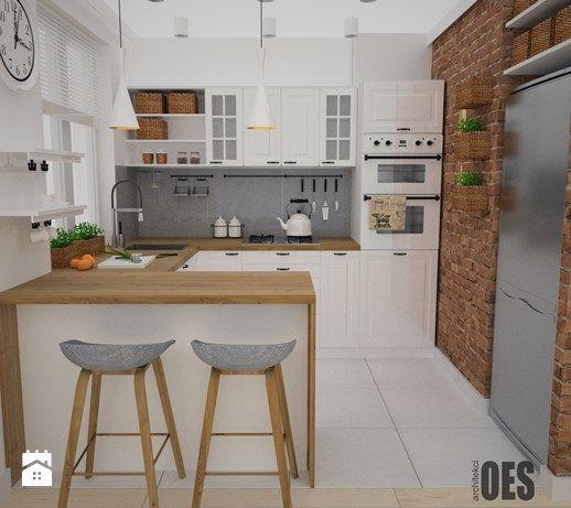 Projekt Kuchni I Salonu średnia Otwarta Kuchnia W