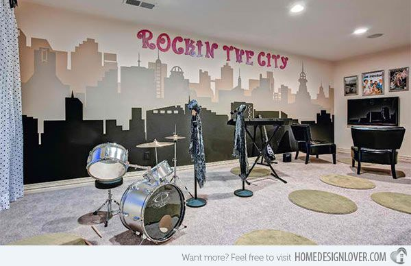 15 design ideas for home music rooms and studios - Music Room Home Design Ideas