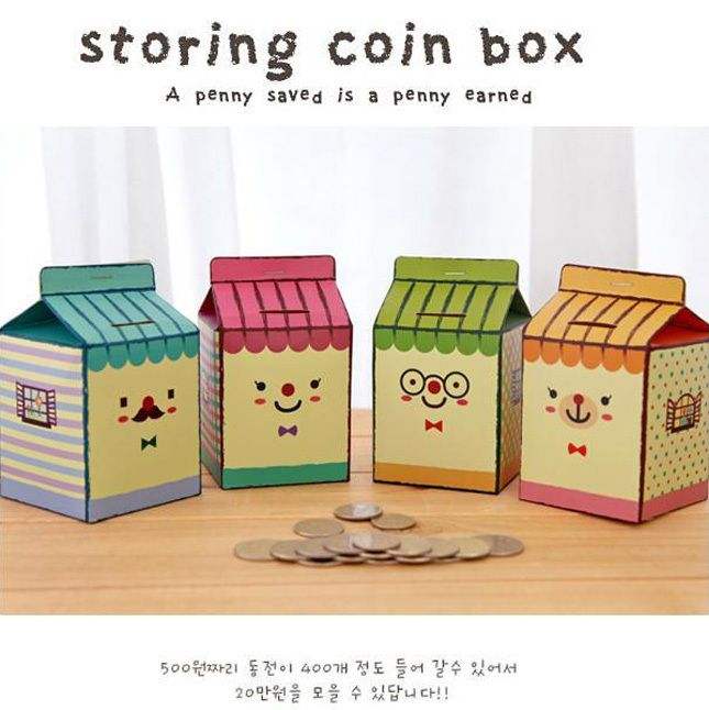 Free shipping diy candy color novelty funny item office for How to decorate a money box