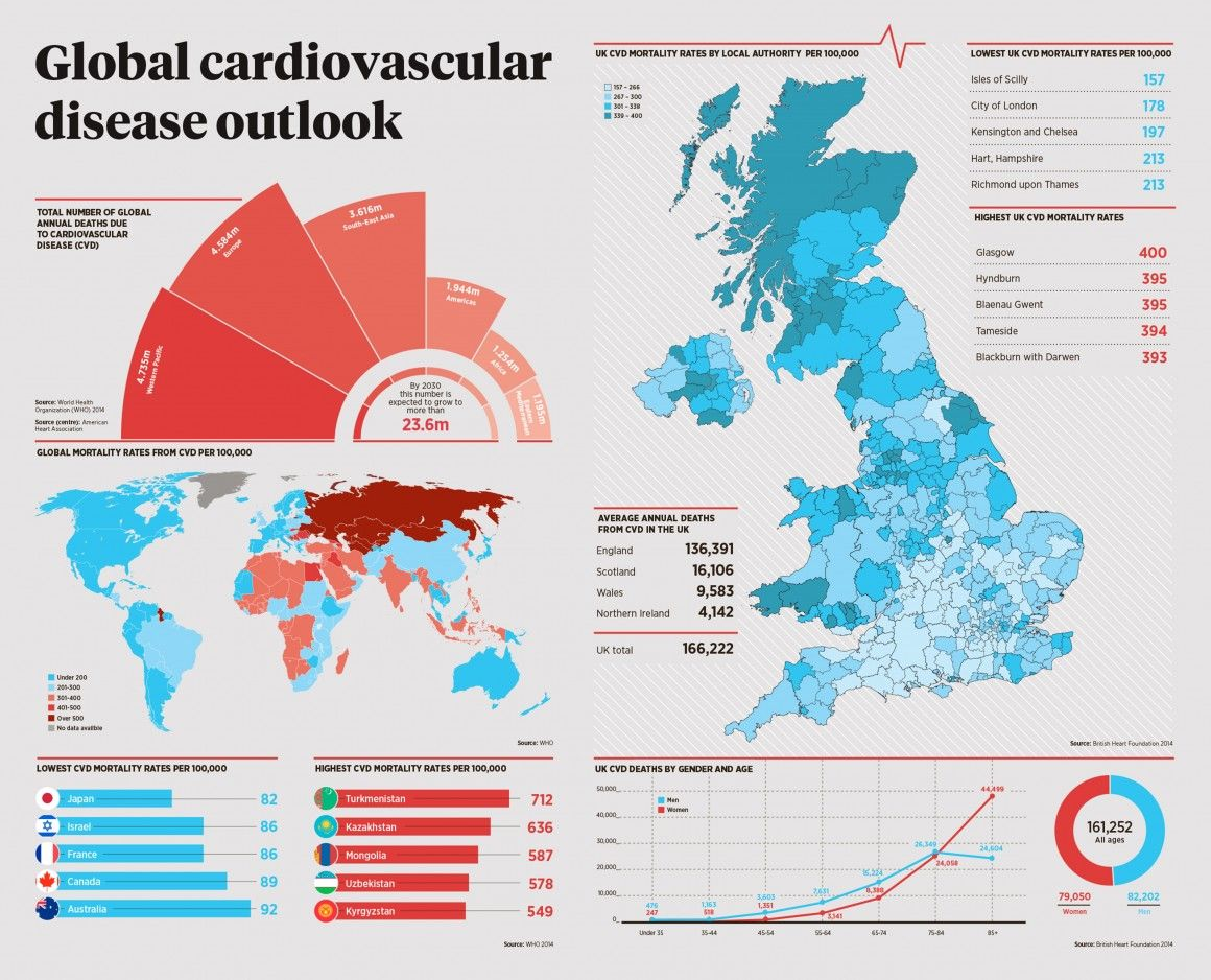 Prevalence Heart Disease Global Cardiovascular Disease Infographic Raconteur