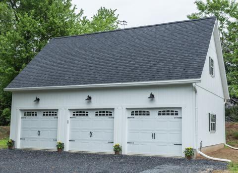 Legacy 2 Story Workshop Three Car Prefab Garage Photo Gallery