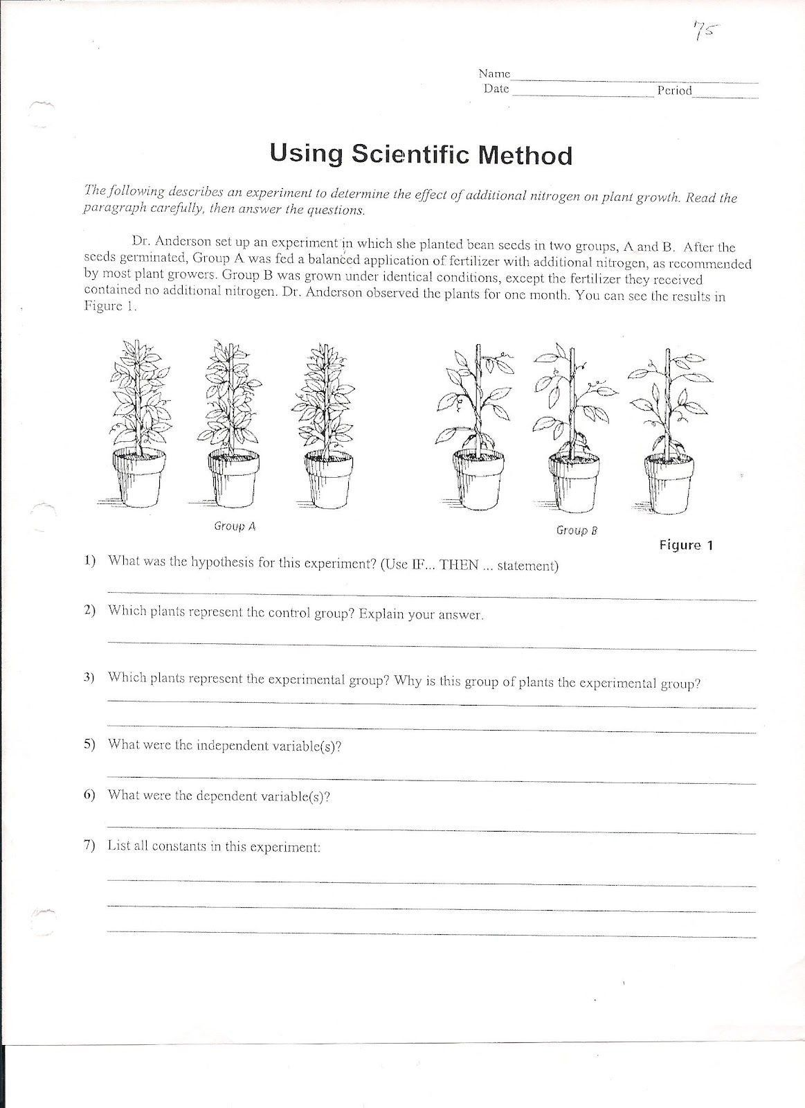 Experimental Variables Worksheet Answers Using Scientific