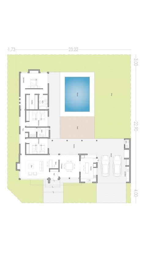 Casa minimalist house design home  shaped also casas de estilo por arbol arquitectos in hut plans rh pinterest