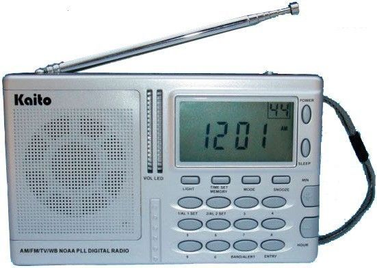 Kaito AM FM TV NOAA Weather Radio w/ Alert! Digital Tuning