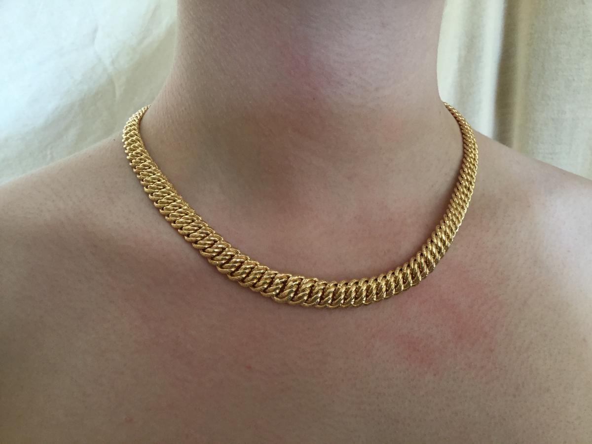 collier or femme 18 carat