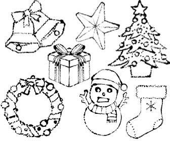 クリスマスイラスト白黒 かわいいクリスマス Christmas